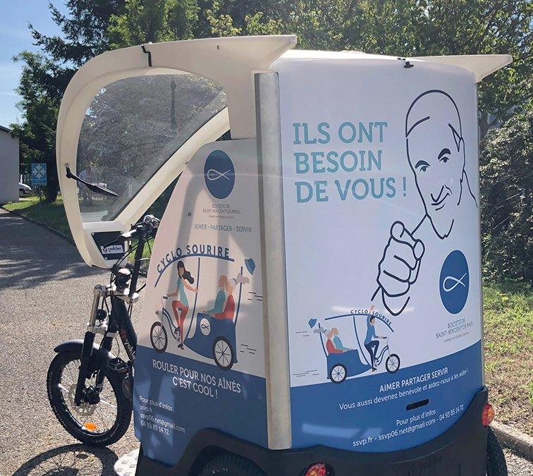 Cyclo-pousse Sourire