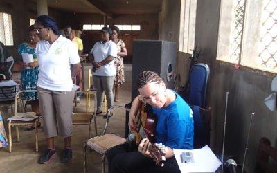 Isabelle Lestrade en mission de volontariat au Cameroun.