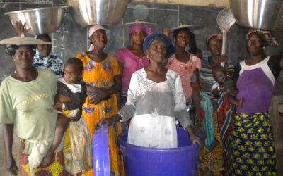 Une école et un potager créés pour les familles